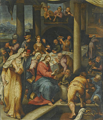 Painting - The Wedding At Cana by Denys Calvaert