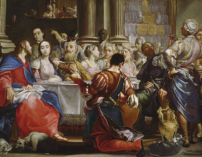 Meal Painting - The Wedding At Cana by Giuseppe Maria Crespi