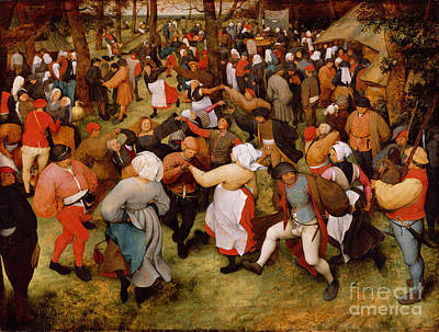 Celebration Painting - The Wedding Dance by Pieter the Elder Bruegel