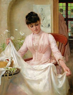 Thomas Benjamin Kennington Painting - The Wedding Dress by Thomas Benjamin Kennington