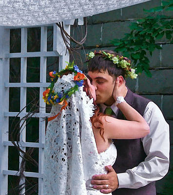 Photograph - The Wedding Kiss by Ginger Wakem