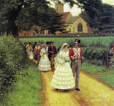 Painting - The Wedding March by Edmund Blair Leighton