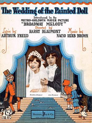 Old Sheet Music Photograph - The Wedding Of The Painted Doll by Mel Thompson