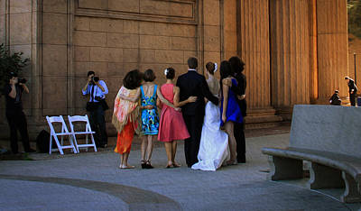 Photograph - The Wedding Party Detail by Bonnie Follett
