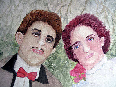Painting - The Wedding Picture by Sandy McIntire