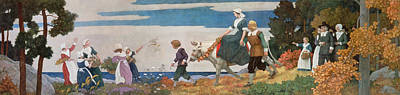 Betrothed Painting - The Wedding Procession by Newell Convers Wyeth