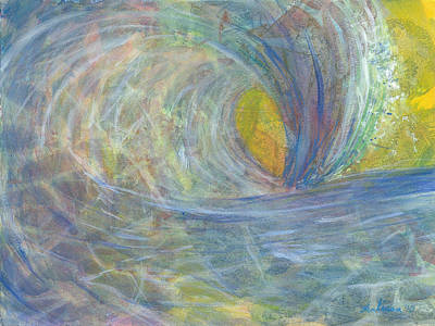 Wave Curl Painting - The Wedge by Arlissa Vaughn