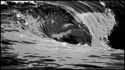 Tsunami Digital Art - The Wedge Newport Beach by Brad Scott