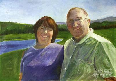 Painting - The Weekend He Proposed And She Said Yes by Donna Walsh