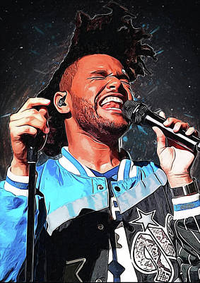 Eric Clapton Digital Art - The Weeknd by Semih Yurdabak