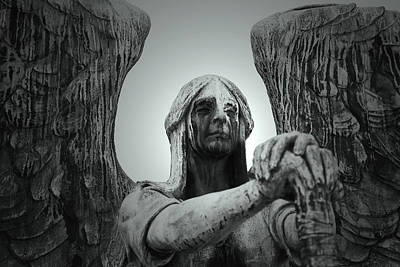 Lakeview Photograph - The Weeping Angel by Brian M Lumley