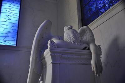 The Weeping Angel Metairie Cemetery New Orleans Print by Braden Moran