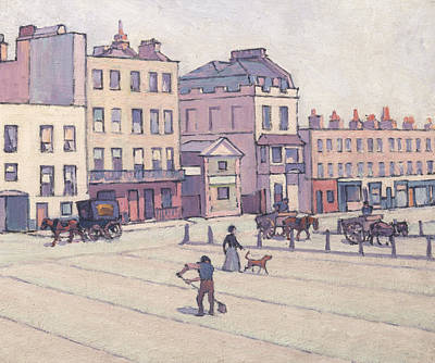 Camden Town Group Painting - The Weigh House, Cumberland Market by Robert Bevan