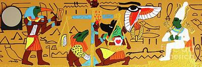Painting - The Weighing Of The Heart by Odalo Wasikhongo