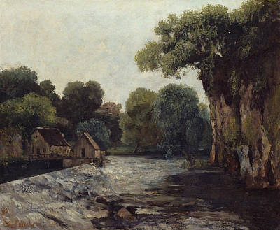 Painting - The Weir At The Mill by Gustave Courbet