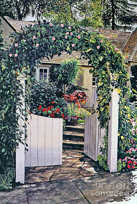 Painting - The Welcome Cottage by David Lloyd Glover