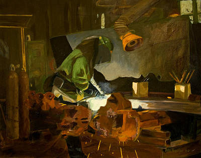 Painting - The Welder by Martha Ressler