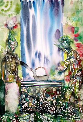 Painting - The Well And Its Inhabitants by Fabrizio Cassetta