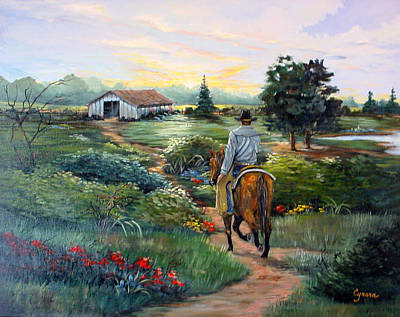 Painting - The Well-worn Path Home by Cynara Shelton