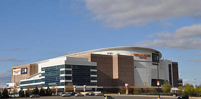 Sixers Digital Art - The Wells Fargo Center - Philadelphia  by Bill Cannon