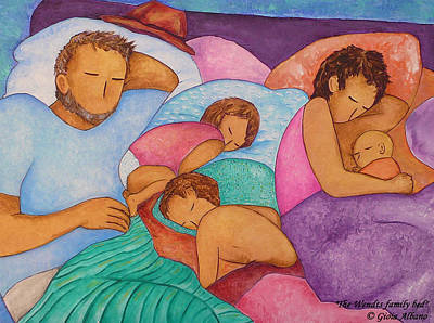 The Wendts Family Bed Art Print by Gioia Albano