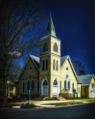 Photograph - The Wenonah United Methodist Church by Nick Zelinsky