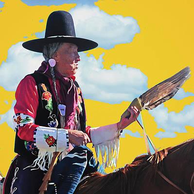 Western Art Mixed Media - The West Crow Fair by Christian Heeb