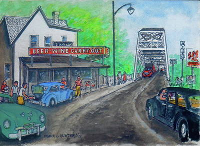 Painting - The West End Carryout At The Bridge by Frank Hunter