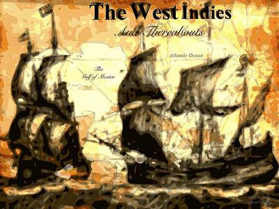 Cabin Interiors Digital Art - The West Indies by Larry E Lamb