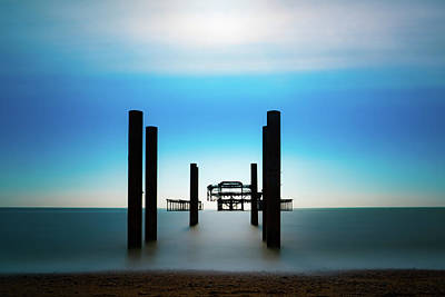 Photograph - The West Pier Ruins In Winter Light by Chris Lord
