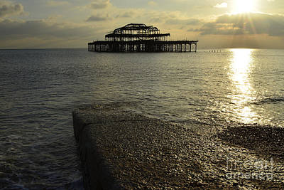 Brighton Pier Photograph - The West Pier by Nichola Denny