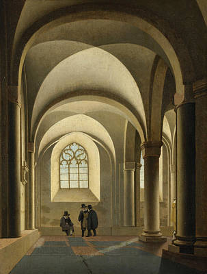 Architecture Painting - The Western Bays Of The Southern Nave Of St. Mary's Church by Pieter Jansz Saenredam
