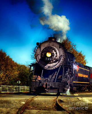 Antiques Photograph - The Western Maryland 734 by Steven Digman