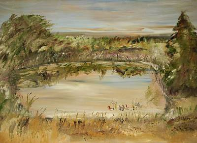 The Westfern Pond Art Print by Edward Wolverton