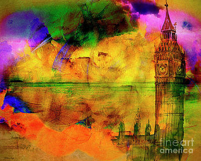 Digital Art - The Westminster Hour by Edmund Nagele