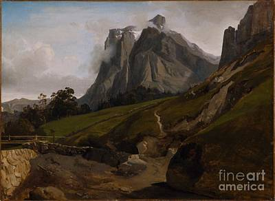 Black Hills Painting - The Wetterhorn Switzerland, by MotionAge Designs