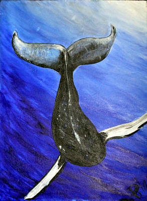 The Whale Art Print by Pilar  Martinez-Byrne
