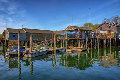 Photograph - The Wharf In Friendship Harbor by Rick Berk