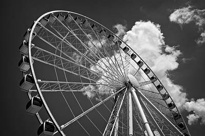 Photograph - The Wheel And Sky In Black And White by Greg Mimbs