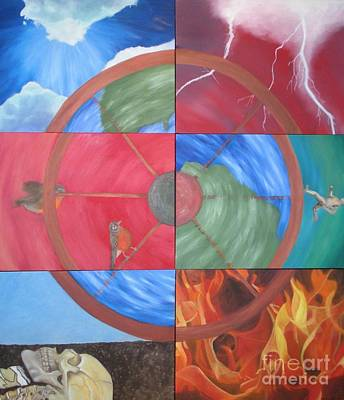 Buddhist Painting - The Wheel by Meg Goff