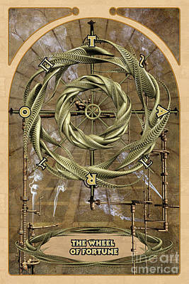 Astrological Digital Art - The Wheel Of Fortune by John Edwards