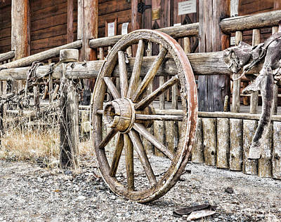 Photograph - The Wheel Rolls On by B Wayne Mullins