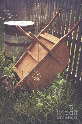 Photograph - The Wheelbarrow by Debra Fedchin