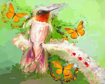 Photograph - The Whimsical Hummingbird by Tina LeCour