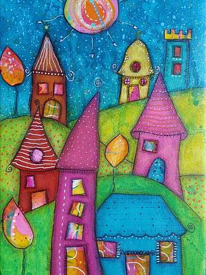 Mixed Media - The Whimsical Village - 2 by Barbara Orenya