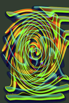What Is Life Digital Art - The Whirl Of Life, W5.2d by Ayman Alenany