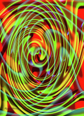 Goals In Life Digital Art - The Whirl Of Life, W5.2e by Ayman Alenany
