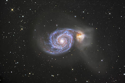 The Whirlpool Galaxy Art Print