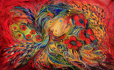 Kabbala Painting - The Whisper Of The Red Wind by Elena Kotliarker