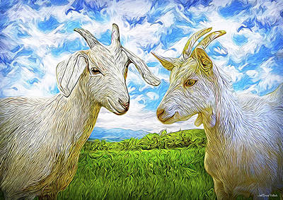 Digital Art - The Whispers Of Goats by Joel Bruce Wallach